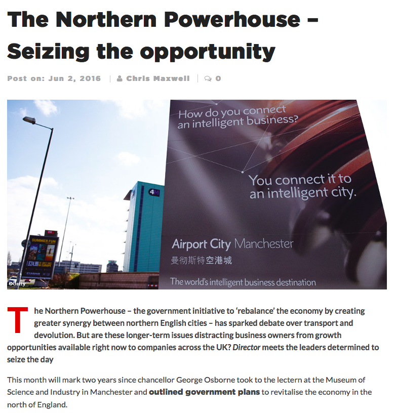 SHARE Leadership The Northern Powerhouse – Seizing the opportunity