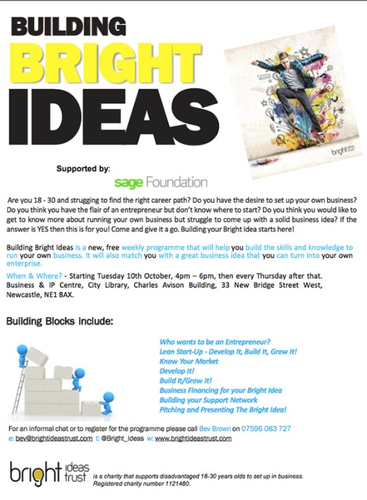 Apply for the Bright Ideas Trust programme