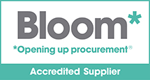 We are a Bloom Accredited Supplier
